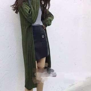 Long coat (knit)