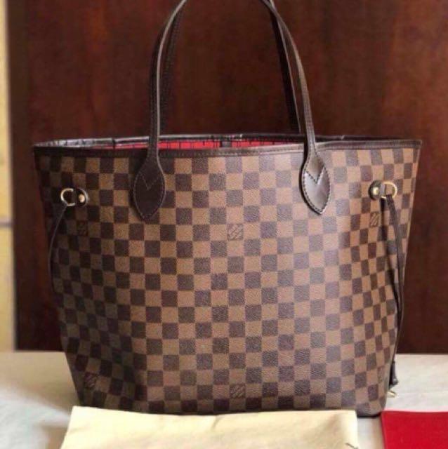 100% Authentic Louis Vuitton Neverfull Damier Ebene GM