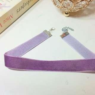 💎 Handmade & New💎 Lavender Velvet Choker