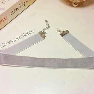 💎 Handmade & New 💎 Grey Velvet Choker