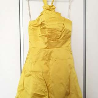 [ KAREN MILLEN ] Yellow Dress (58% cotton, 38% polyester etc)