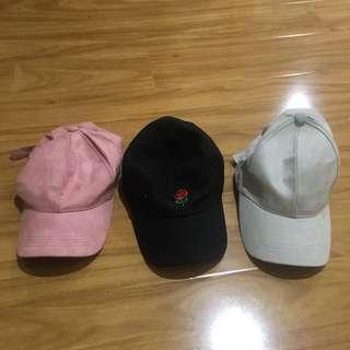 Suede hats / rose hat