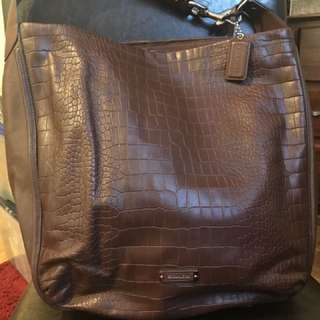Brand-new authentic Coach Avery embossed croc hobo tote