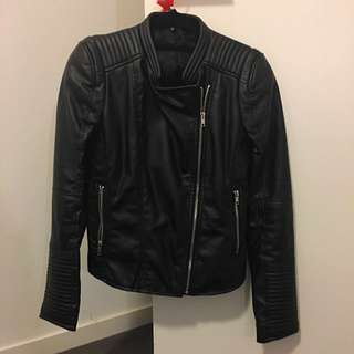 French Connection Synthetic Leather Jacket(Price dropped!)