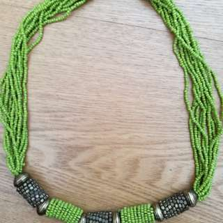 Lime color necklace