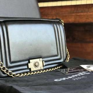 Chanel Leather 1st Edition Le Boy Bag from 2012
