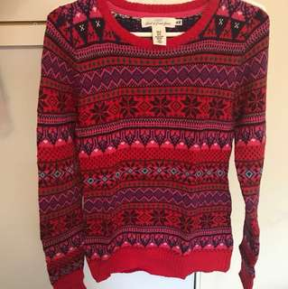 H&M (XS) Christmas sweater