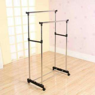 Double Pole Clothes Rack