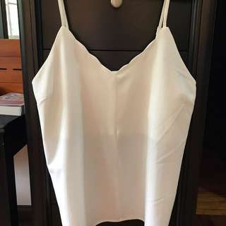 Zalora Scalloped Hem Camisole
