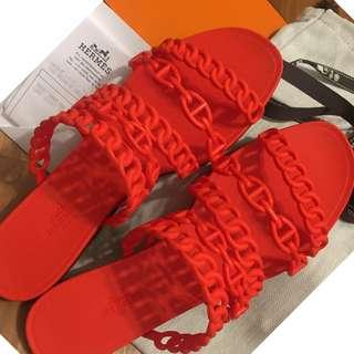 hermes塑膠拖鞋