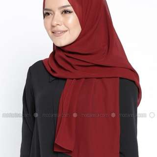 maroon soft chiffon shawl