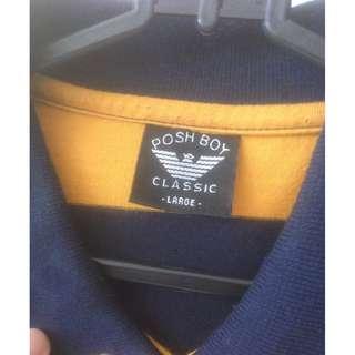 Kaos Polo Posh Boy Original // Dark Blue - White - Orange