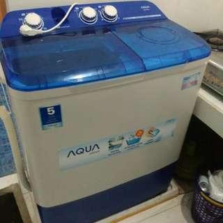 AQUA mesin cuci pindah rumah jual cepat
