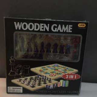 Leon Wooden Game 3 in 1