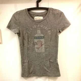 A&F 灰色短袖t-shirt #含運最划算