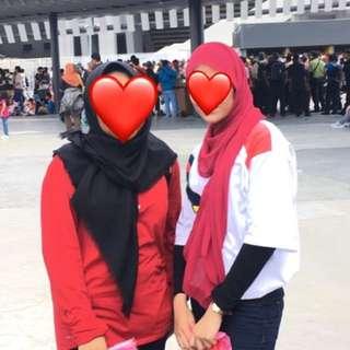 dark red soft chiffon shawl