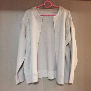 Knit Jacket (Beige)
