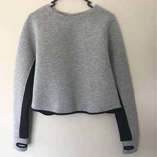 Grey Crop Top Activewear