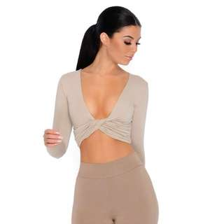 Oh Polly Crop top nude