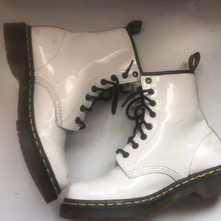 Authentic White Doc Martin boots