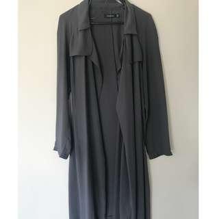 Grey/Blue Chiffon Kimono