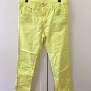H&M coloured jeans