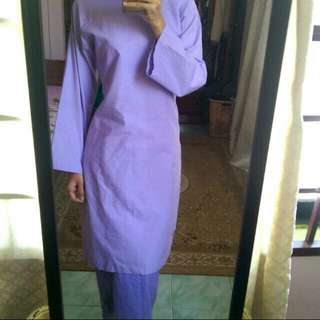 Plain kurung cotton