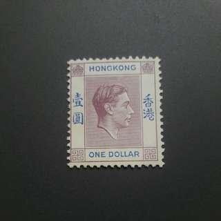 1938年喬治六世戰前版一圓新票MNH