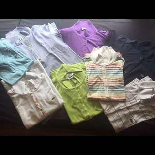 Set of Lacoste Polo Shirts ALL GUARANTEED AUTHENTIC