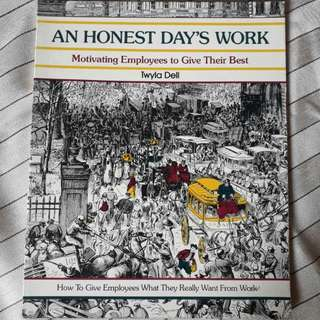 Buku An Honest Day's Work