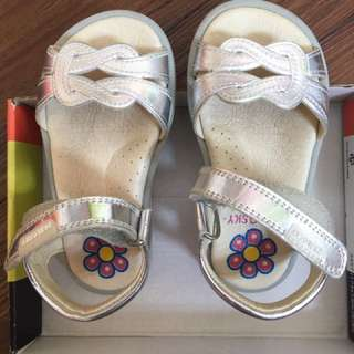Pablosky Sandals toddlers in silver (leather)