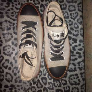 Authentic Converse All star Chuck Taylor in Gray and black color