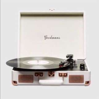 Goodmans Turntable Record Player 手提皮箱黑膠唱盤