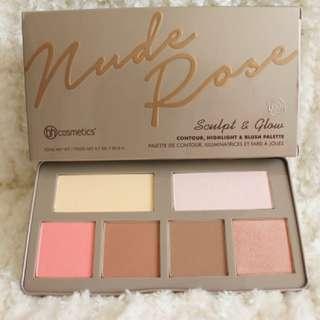 BH Cosmetics Nude Rose Sculpt & Glow Palette
