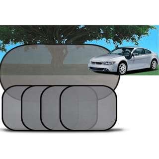 [隔熱網紗遮陽擋(5件套裝)] 可隔離90%以上的陽光,夏天駕車必不可少的用品,安裝非常快捷,適用於各種車型使用