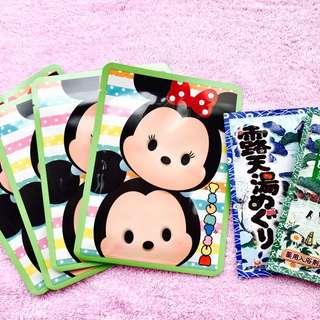 日本 迪士尼 tsum tsum 面膜 4入