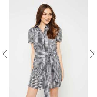 New with tags - gingham blue dress miss selfridge free postage