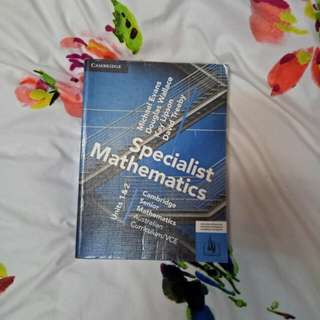 Cambridge Specialist Maths Unit 1&2