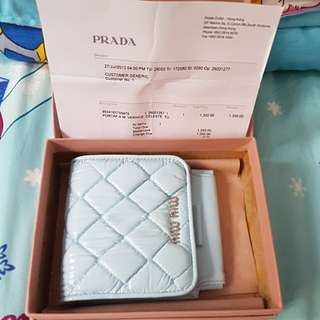Miu Miu Light Blue Wallet