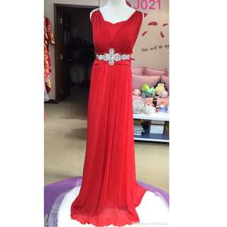 85% New red evening dress/party gown, slim cutting (Annual Dinner ball/event/fucnction)