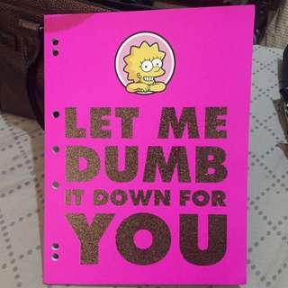 Typo Large Notebook Lisa Simpson