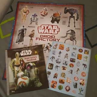 StarWars: Droid Factory Handbook+Poster+Stickers