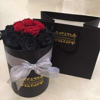 [Roses Éternelles] Preserved flower in medium round box