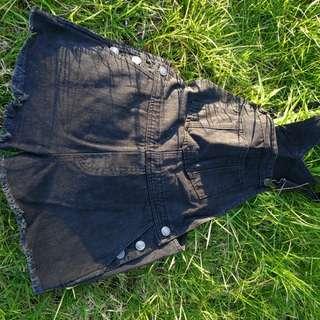 Dark grey denim jumpsuits