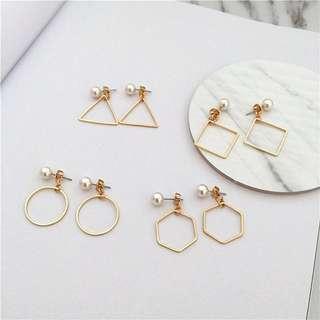 FREE SHIPPING pearl earrings