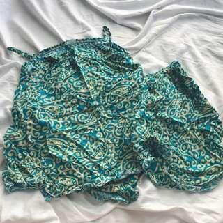 Aqua pattern pjs