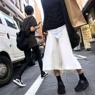 『日系小眾入門~超低襠厚質棉麻寬褲裙』