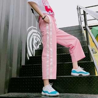 #條紋運動褲 #運動褲 #韓版 #運動風 #休閒