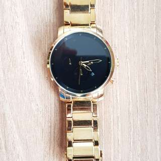 Pre-loved MVMT Gold on Gold Black Dial chronograph wrist watch