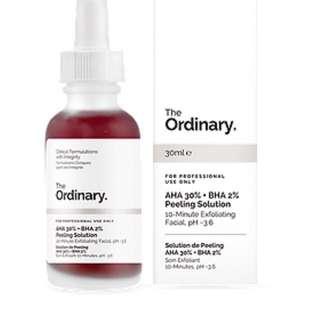 The Ordinary 30% AHA 2% BHA 10min Peel Solution